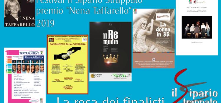 """Festival Regionale """"Teatro Il sipario Strappato"""" – Premio """"Nena Taffarello"""" 2019 – la rosa dei finalisti"""